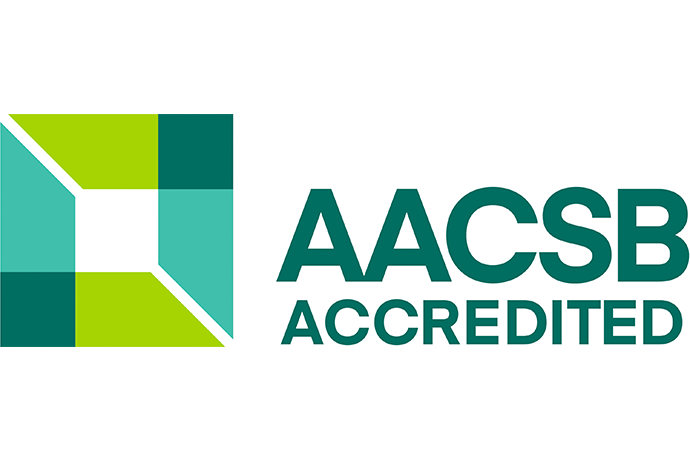Logo marking accreditation from the Association to Advance Collegiate Schools of Business International.