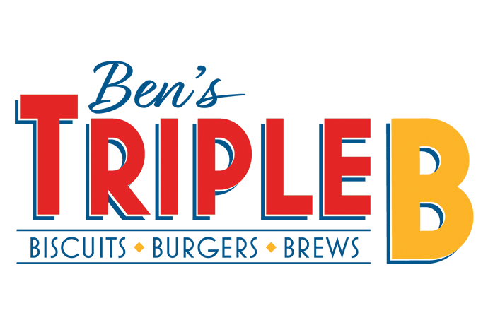 High-resolution logo of Ben's Triple B: Biscuits, Burgers, Brews.