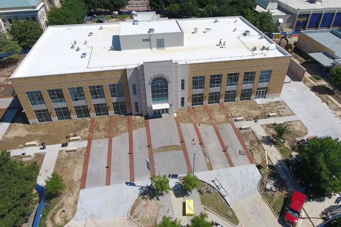 View of the new Nick and Lou Martin University Center with a drone taken on May 13, 2019.