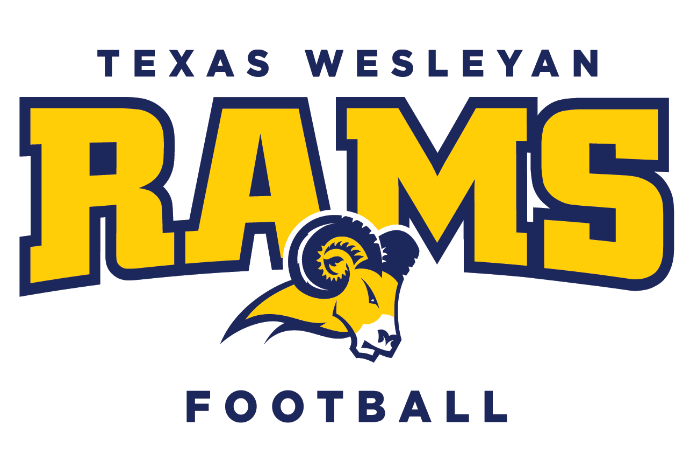 Image of Texas Wesleyan football logo on white background