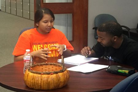 students in a tutoring session in the Academic Success Center