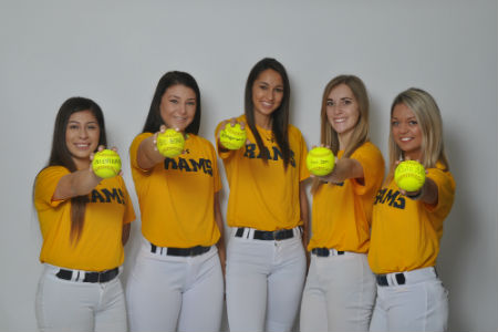 Seniors of the Lady Rams Softball Team FY18