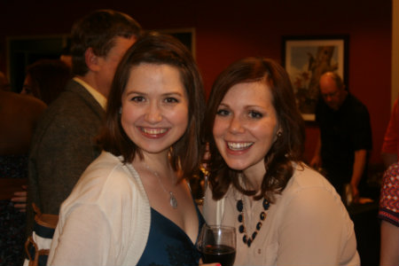 This is a picture of two alums at the afterglow event during alumni reunion weekend