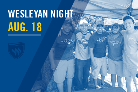 Buy your ticket for Wesleyan Night with the Rangers at Globe Life Park on August 18.