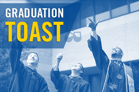 Texas Wesleyan hosts a Grad Toast event for all Ram graduates