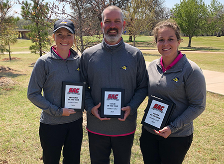 Emily Hunt, Kevin Millikan & Alex Schies were named SAC Freshman, Coach and Player of the Year.