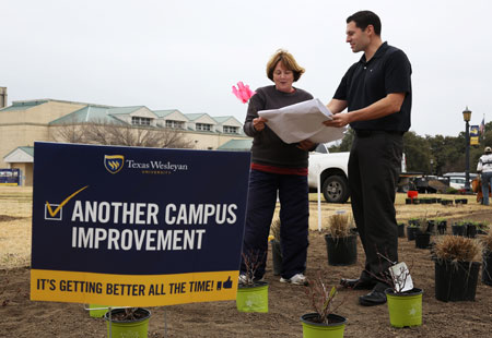 Brian Franks is leading the charge on improvements around the campus.