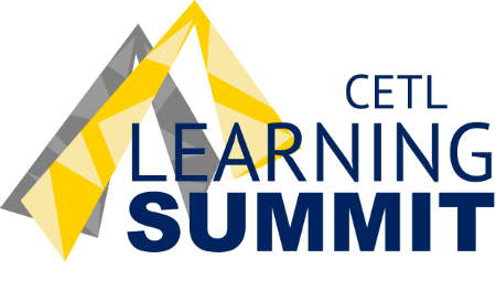 Graphic of mountain peaks and CETL Learning Summit