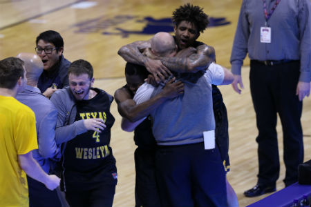 The 10th ranked Texas Wesleyan University men's basketball team (28-7) overcame a 16-point second-half deficit and topped 2nd ranked William Penn University (33-4) 83-82 in overtime during a semifinal contest at the 2017 Buffalo Funds-NAIA Division I Men's Basketball National Championship on Monday.