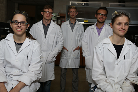 It's a rare opportunity to be an active part of scientific research, especially for undergraduates, but over the summer five science students had paid internships in the labs of three Texas Wesleyan professors, thanks to a grant by the Robert A. Welch Foundation.