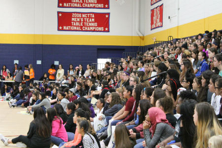 The EYH program is an annual conference of math and science workshops created for seventh- and eighth-grade girls. Each year, about 300-400 young women attend and seventy professional women from the metroplex present STEM-related workshops and more.