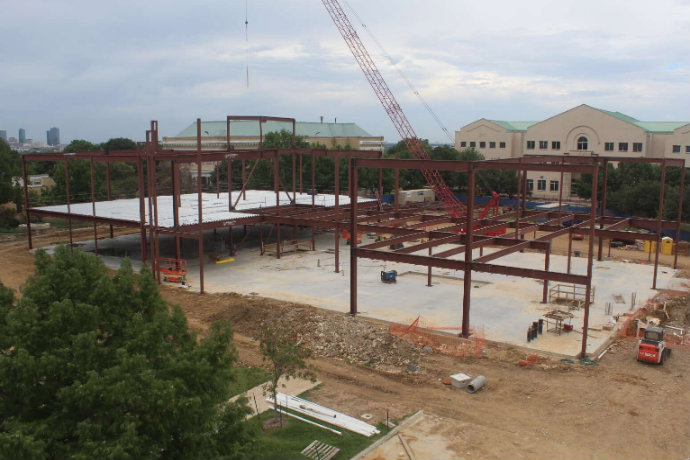 Photo of Martin Center construction site taken on Oct. 8, 2018.