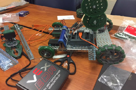 Check out the Upward Bound first-ever robotics competition