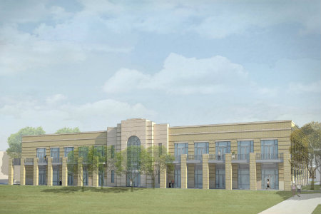 Rendering of the Nick and Lou Martin University Center
