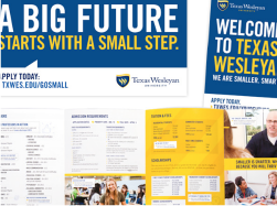 "Take a look at Texas Wesleyan's ""Smaller. Smarter."" brand"