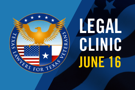 Mark your calendar for the free legal clinic for veterans at Texas Wesleyan on June 16