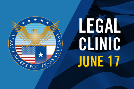 Texas Lawyers for Texas Veterans Tarrant County Chapter is holding a free legal clinic at Texas Wesleyan University