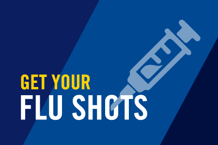 Employee flu shots on campus