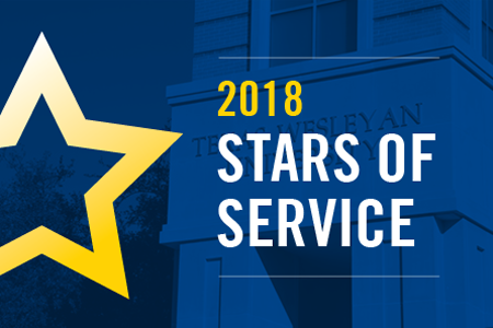 2018 Stars of Service Graphic used for showcasing the annual employee recognition event