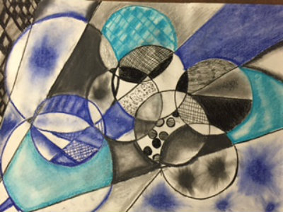 Study in Cubism, Beginning Drawing