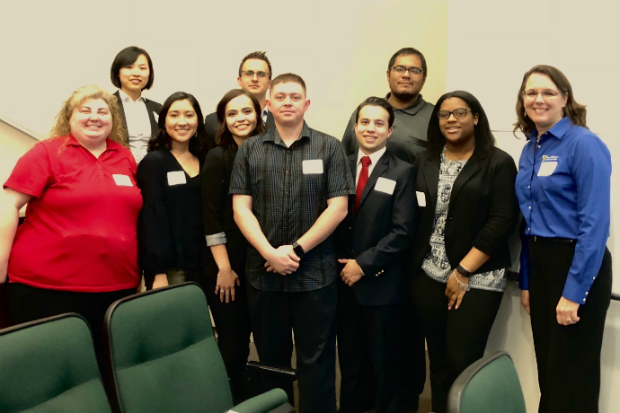 Texas Wesleyan students attend the 2018 IMA Extravaganza