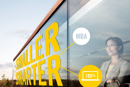 Image for online MBA being smaller smarter blog article