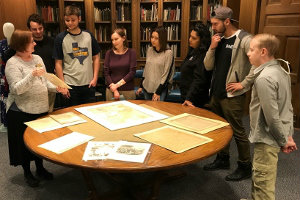 Public history students at Texas Wesleyan tour UTA's special collections