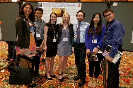 Photo of a group of Texas Wesleyan students at Psychology conference in Houston