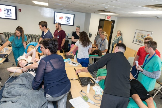 A pic from one of the Simulation Stations during the Simulation Symposium.