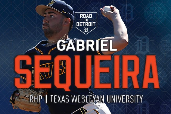 Photo of former TXWES pitcher Gabriel Sequeira, who signed with the Detroit Tigers.