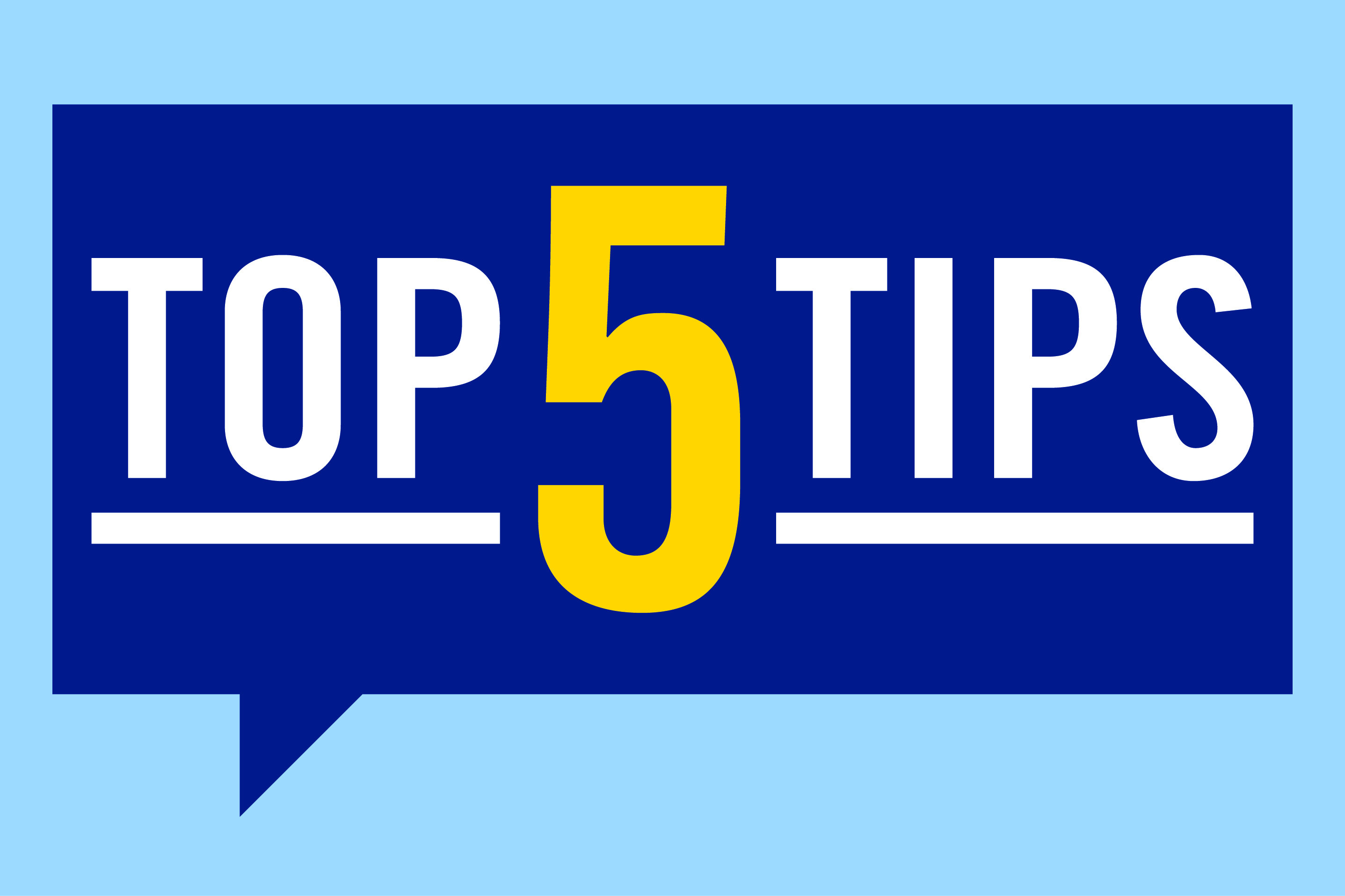 Top five tips image