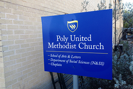 Polytechnic United Methodist Church sign