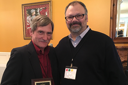 Jeffrey DeLotto, Ph.D., professor of English, was awarded the Frances B. Hernandez Teacher-Scholar Award at the Conference of College Teachers of English on Saturday, March 5.