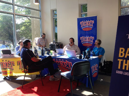 In April 2015, head baseball coach and former Texas Ranger Mike Jeffcoat interviews on air with The Musers morning show on the Ticket radio.