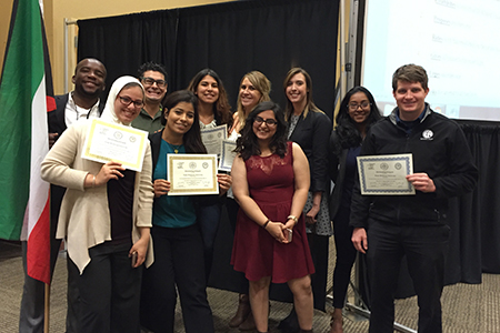 Last month, Texas Wesleyan's Model Arab League team received the Distinguished Delegation Award while representing Kuwait at the regional conference at Texas A&M University – Commerce, Texas.