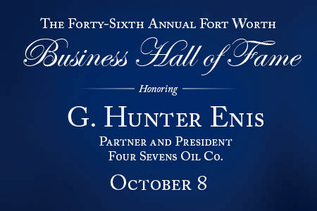 The 46th annual Fort Worth Business Hall of Fame will be held Thursday, Oct. 8 at The Fort Worth Club. This year's presenting sponsor is Capital One.