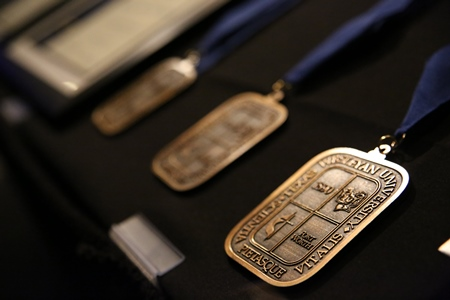 photo of medals presented at alumni medal dinner