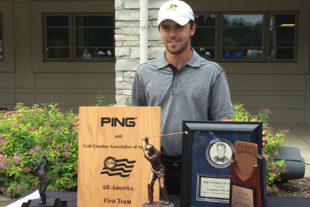 David Ravetto after winning the NAIA Men's Golf Individual National Championship
