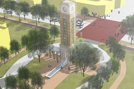 Rendering of planned improvements