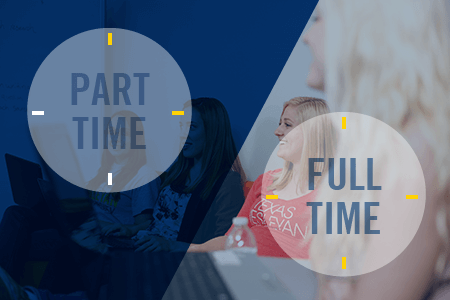 Now that you've decided to earn your master's degree in professional counseling, let us help you choose between being a full-time or part-time student.