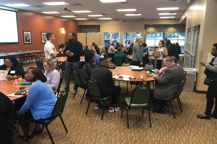Photos from the February 2019 meeting of Tarrant County Job Links held at Lou's Place