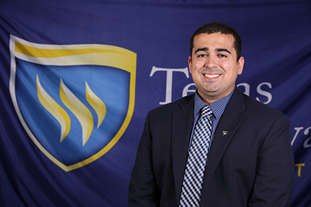 Photo of Texas Wesleyan Communications Specialist Neph Rivera